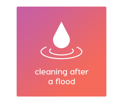 cleaning after a flood