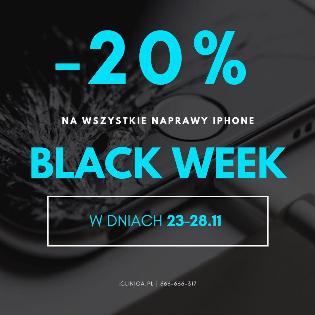 Black Week w iClinica! Rabat -20% na wszystkie naprawy iPhone!